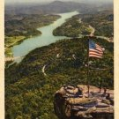 Lake Lure North Carolina Postcard, Chimney Rock and West Arm of Lake Lure, Full Color c.1930