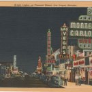 Las Vegas Nevada Postcard, Bright Lights on Fremont Street c.1946