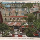 Riverside California Card, Spanish Patio at The Mission Inn, Full Color c.1932