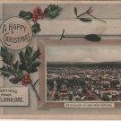 Portland Oregon Postcard, Christmas Greetings from Mt. Saint Helens c.1910