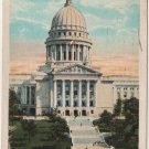 Madison Wisconsin Postcard, State Capitol from State Street, Full Color c.1921