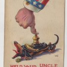 Patriotic Postcard, Shows WWI Era Uncle Sam c.1918
