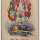 Patriotic Postcard, Shows The WWI Allied Flags, The End of A Perfect Day c.1918