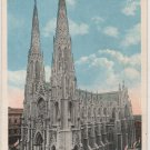 New York City Postcard, St. Patrick's Cathedral, Full Color c.1920