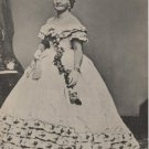 Mary Todd Lincoln Card, Brady Portrait Before Second Inaugural Ball, Jumbo Black & White c.1966