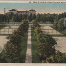 Battle Creek Michigan Card, Tennis Courts, Sanitarium and Grounds c.1919