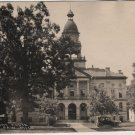 Paw Paw Michigan Card, Court House Building and Grounds, Black & White c.1919
