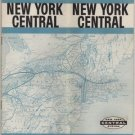 New York Central Railroad Timetable Map, Pale Blue Cover c.1959