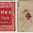Chicago, Burlington & Quincy Railroad Playing Cards, Full Deck in Red c.1888