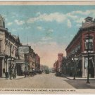 Albuquerque New Mexico Postcard, View Down Second Street, North from Gold Avenue c.1915