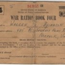 WWII Era USA Ration Books 3 & 4 with Stamps c.1943