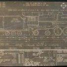 Erie Railroad Engine Diagram, Baldwin Locomotive c.1940