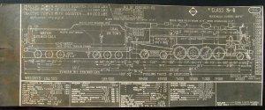 Erie Railroad Engine Diagram, Lima Locomotive c.1940