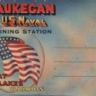 Great Lakes Illinois Postcard Folder, Waukegan & US Naval Training Station, Sixteen Images c.1943