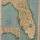 Map of Florida, Rand McNally for Collier's World Atlas c.1949