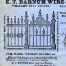 E.T. Barnum Wire & Iron Works Sales Letters, Detroit Michigan c.1883