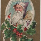 Christmas Postcard, Brown Robe Santa & Bag of Toys c.1909
