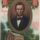 Lincoln Centennial Bday Postcard, Portrait & Rock Spring Farm Kentucky c.1908