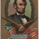 Lincoln Centennial Bday Postcard, Portrait, Eagle & Shield c.1908