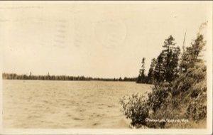 Gaylord Michigan Postcard, Otsego Lake, Black & White Real Photo c.1939