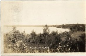 Kalkaska Michigan Postcard, Bear Lake, Black & White Real Photo c.1939