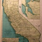 Map of California, Rand McNally for Collier's World Atlas c.1949