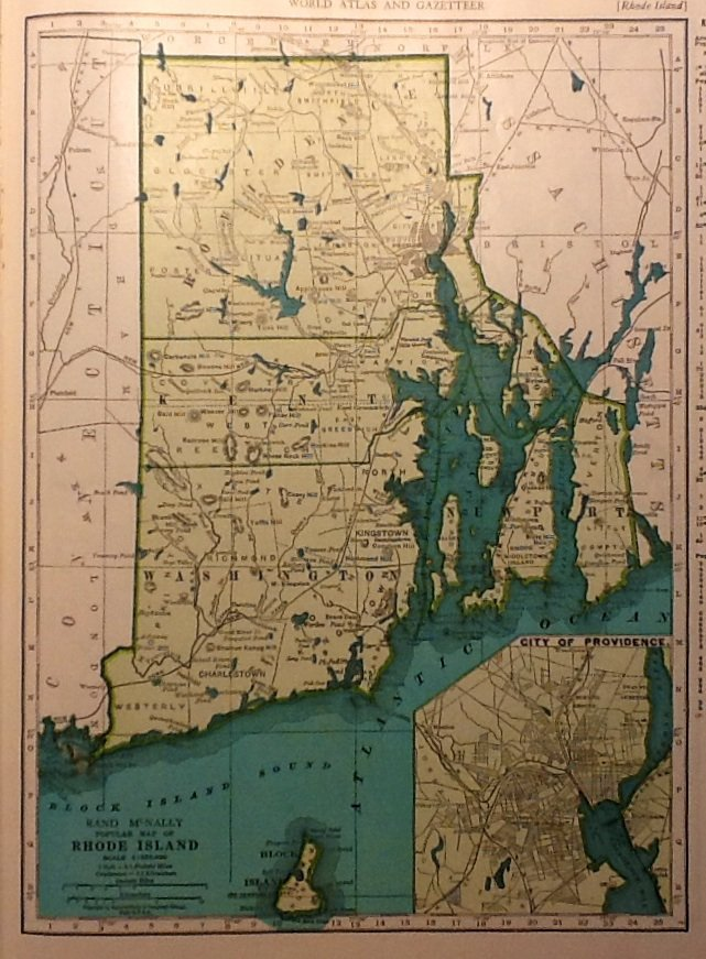 Rand Mcnally Rhode Island Map