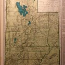 Map of Utah, Rand McNally for Collier's World Atlas c.1949