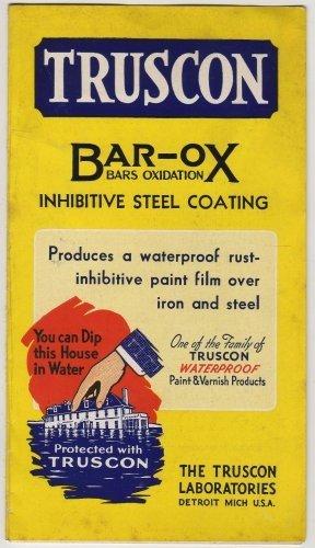 Bar-Ox Paint Color Swatches, Truscon Labs, Detroit Michigan c.1936