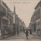 Mayet France Postcard, Avenue de la Gara, WWI Era in Black & White c.1917