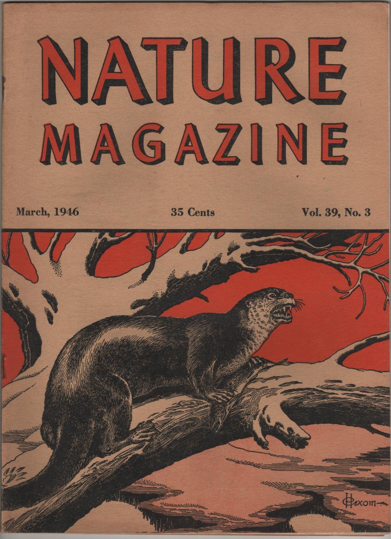 Nature Magazine, Otter, Red Hexom Cover c.1946