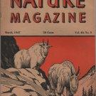 Nature Magazine, Mountain Goats, Orange Hexom Cover c.1947