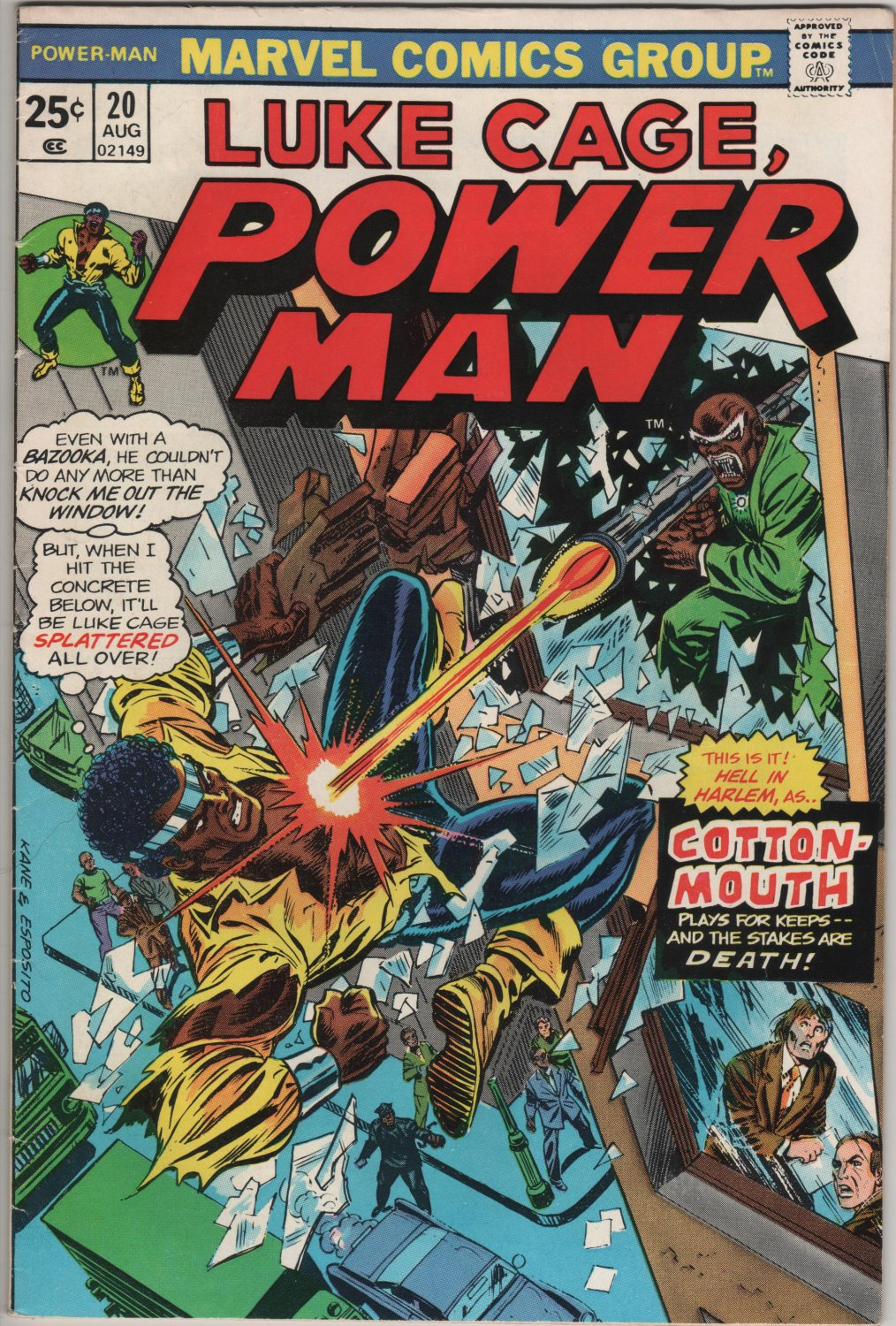 Luke Cage, Power Man #20 Cotton-Mouth, Hell in Harlem c.1973