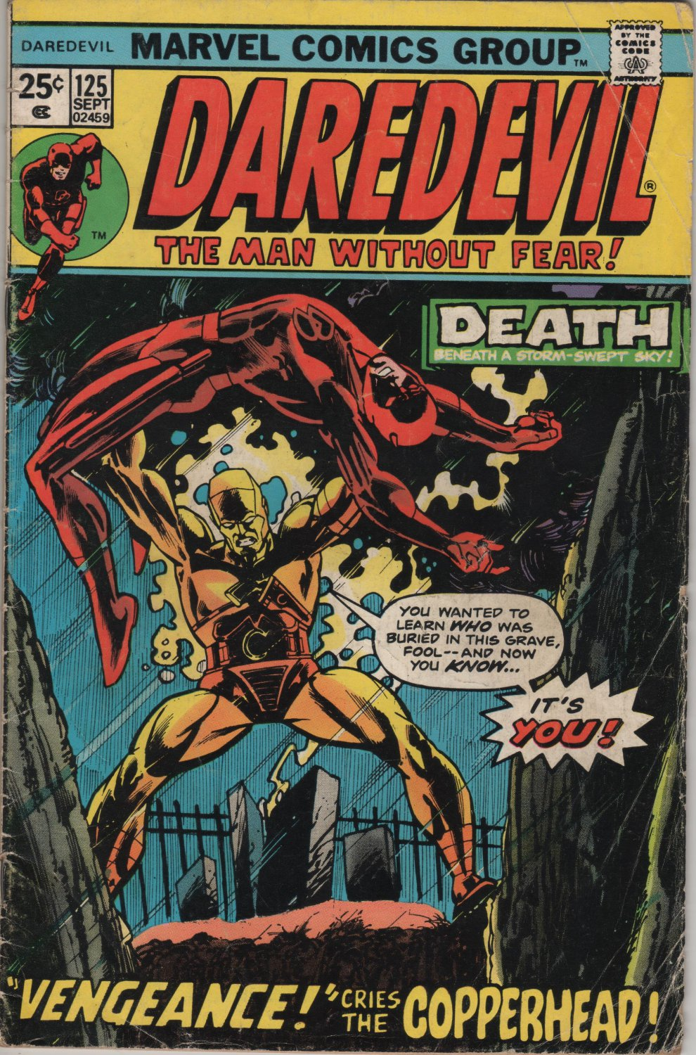 Daredevil #125 In The Clutches of The Copperhead c.1975