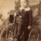 CDV of Child with Bicycle, Sepia Tone c.1890