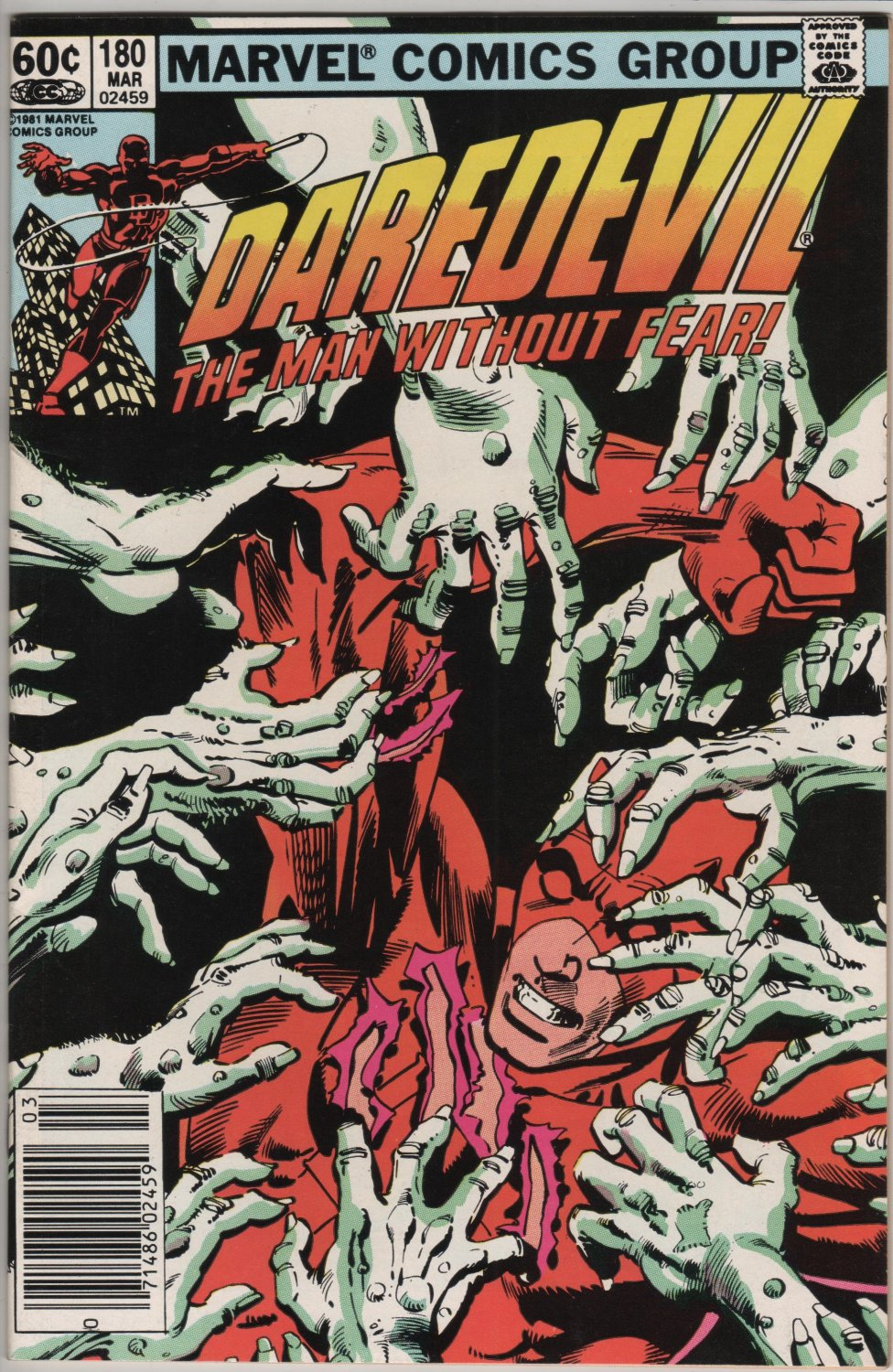Daredevil #180, March Issue Marvel c.1980
