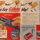 Gillette Father's Day Ad, Two Pages in Full Color c.1951