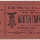 Lawn Fete Benefit Ticket, G.A.R. Ford Post Toledo c.1895