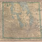 Map of Manitoba Canada, C.S. Hammond Atlas c.1910