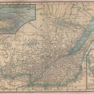 Map of Québec Canada, C.S. Hammond Atlas c.1910