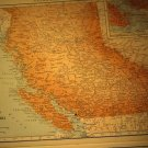 Map of British Columbia Canada, Rand McNally c.1949