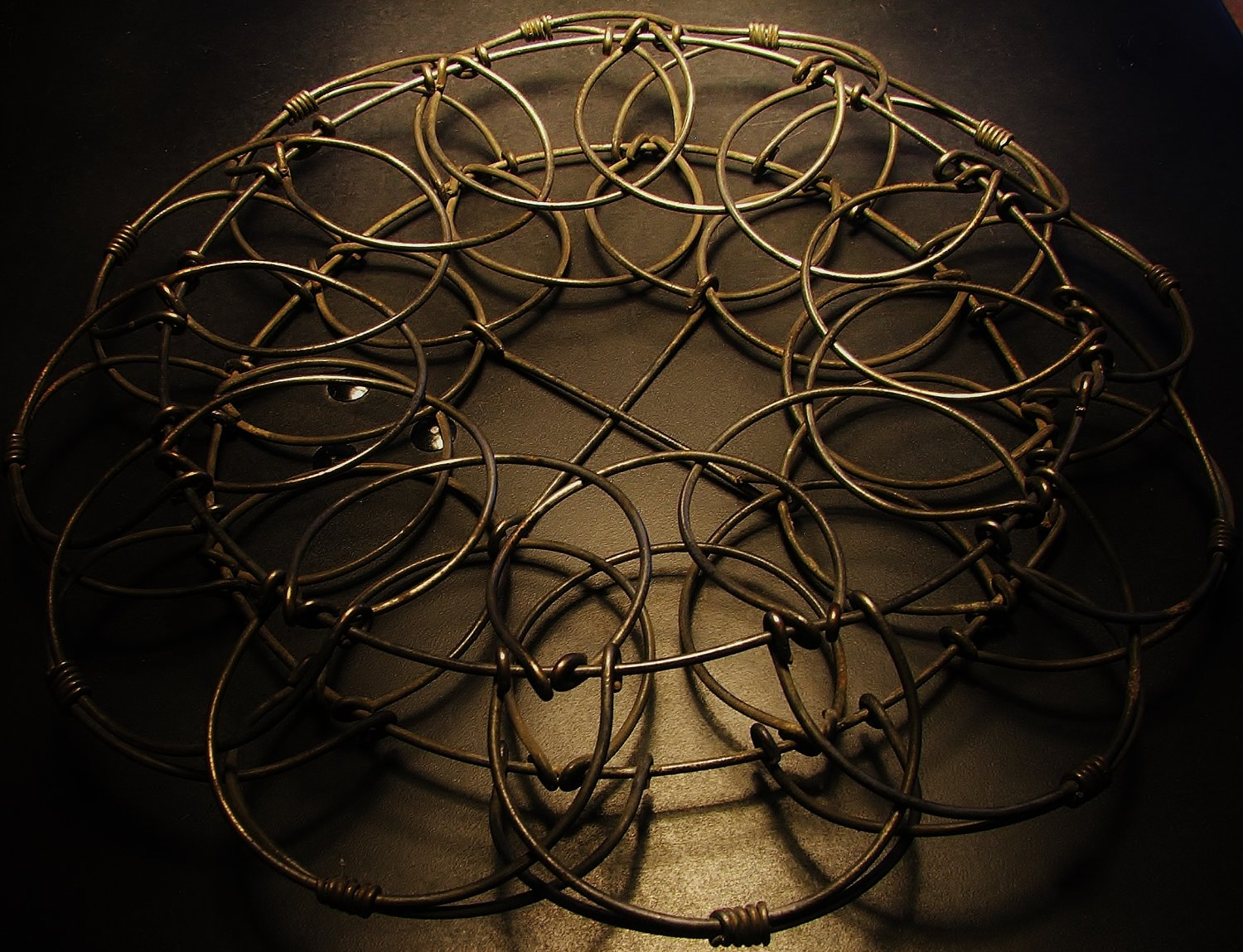 Bent Wire Basket, Early American, Collapsible c.1900