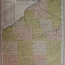 Wood County Ohio Map, Rural Delivery, Voting Precincts c.1912