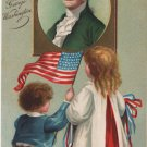 Geo. Washington Bday Postcard, Children & Portrait  c.1909