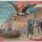 George Washington Bday Postcard, Reception & Oath c.1907