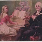 George Washington Bday Postcard, Playing Music c.1909