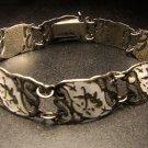 Siam Silver & White Enamel Bracelet c.1949