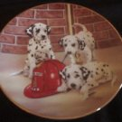 Firehouse Frolic Princeton Gallery Dalmatian Collector Plate