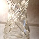 Clear Leaded Glass Vase