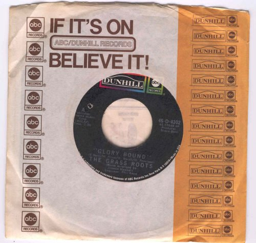 Grass Roots Glory Bound 45rpm Record